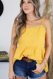 Without Us Top: Yellow - ShopSpoiled