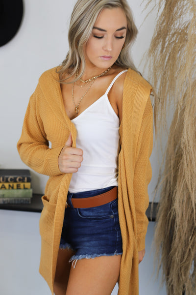 Days Like These Cardigan: Mustard - Shop Spoiled Boutique