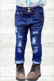 Kids distressed denim jeans - ShopSpoiled