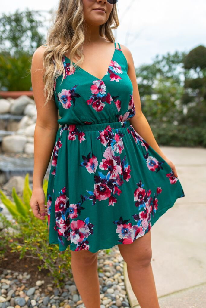 Leilani Dress: Green - ShopSpoiled