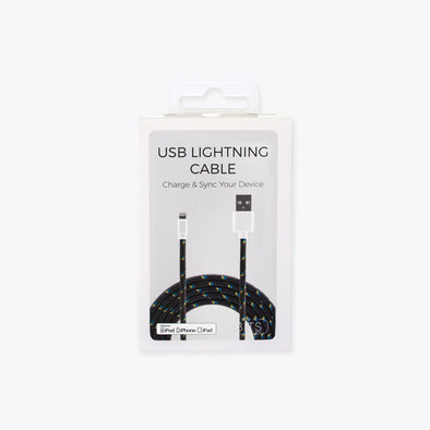 Charcoal Lightning Cable - ShopSpoiled
