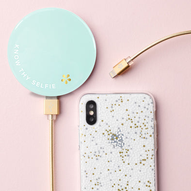 Know Thy Selfie Portable Charger w/ Mirror - ShopSpoiled
