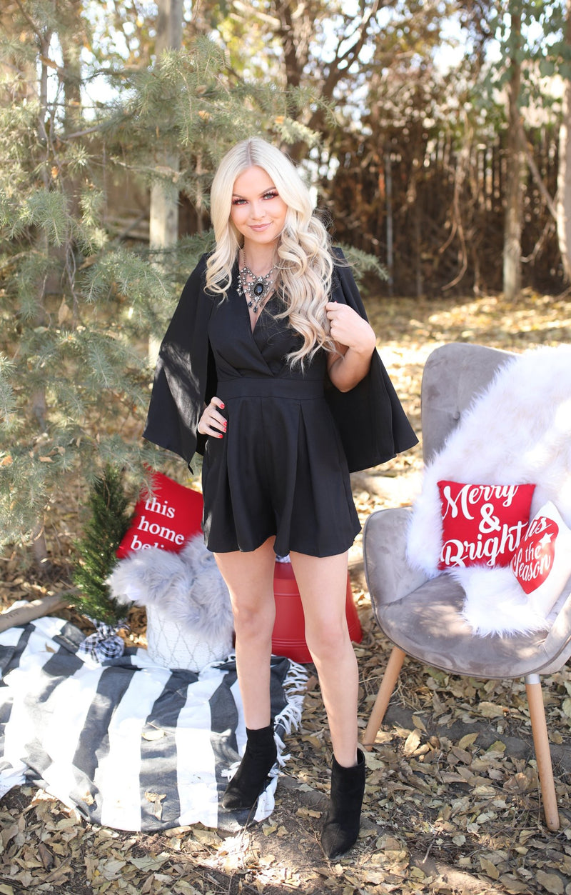 Cindy Lou Romper: Black - ShopSpoiled