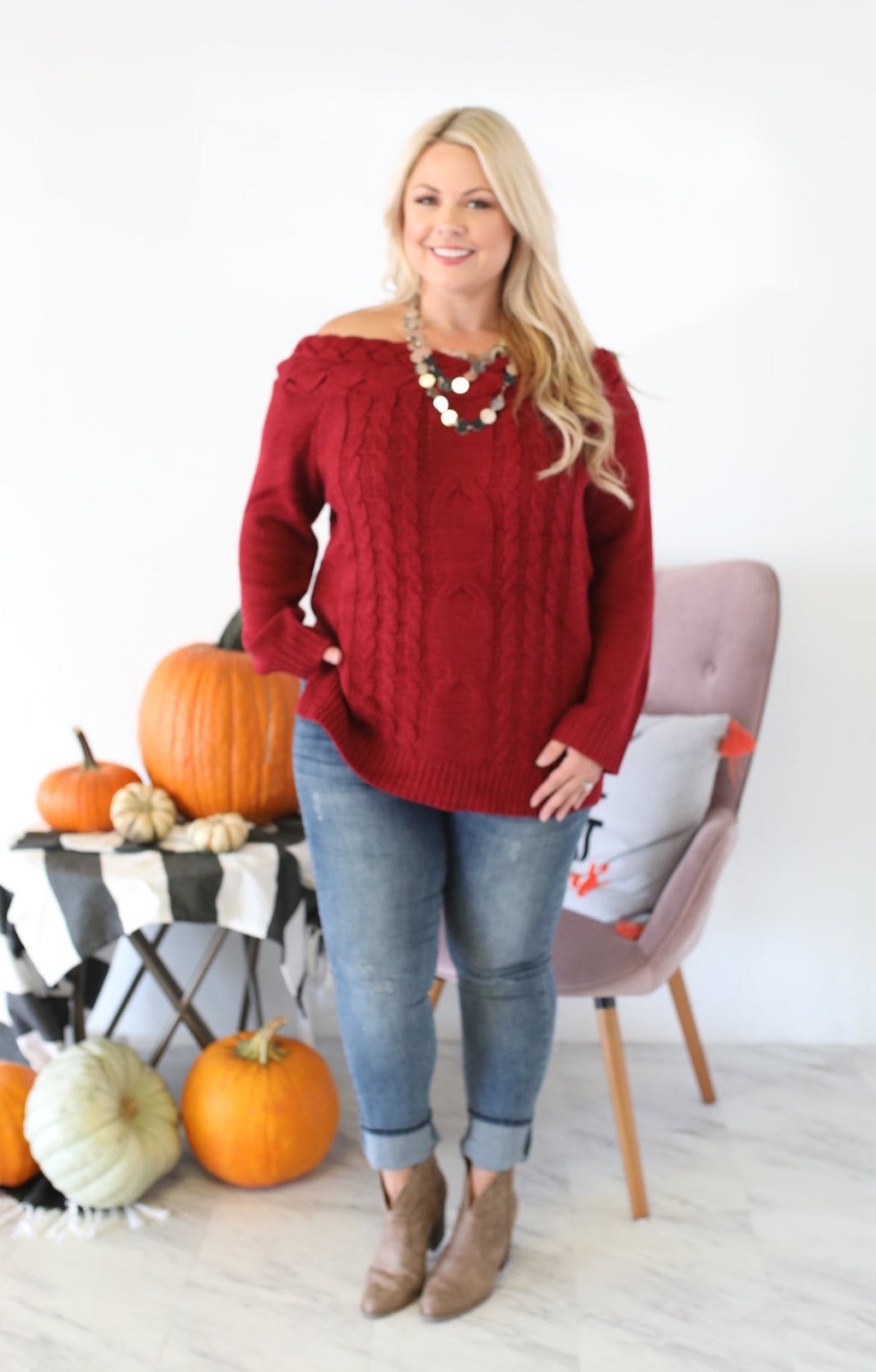 Dispatched Xtra Sweater: Cranberry - ShopSpoiled