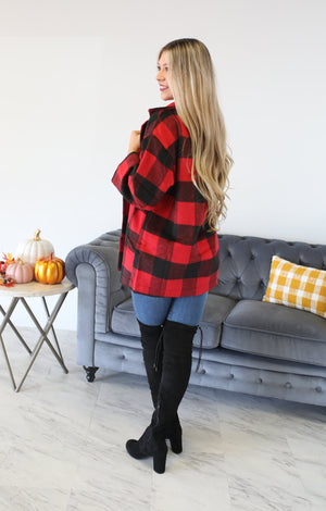 Enchanting Jacket: Red/Black - ShopSpoiled