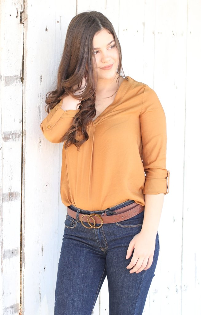 Fall Frenzy Top: Mustard - ShopSpoiled