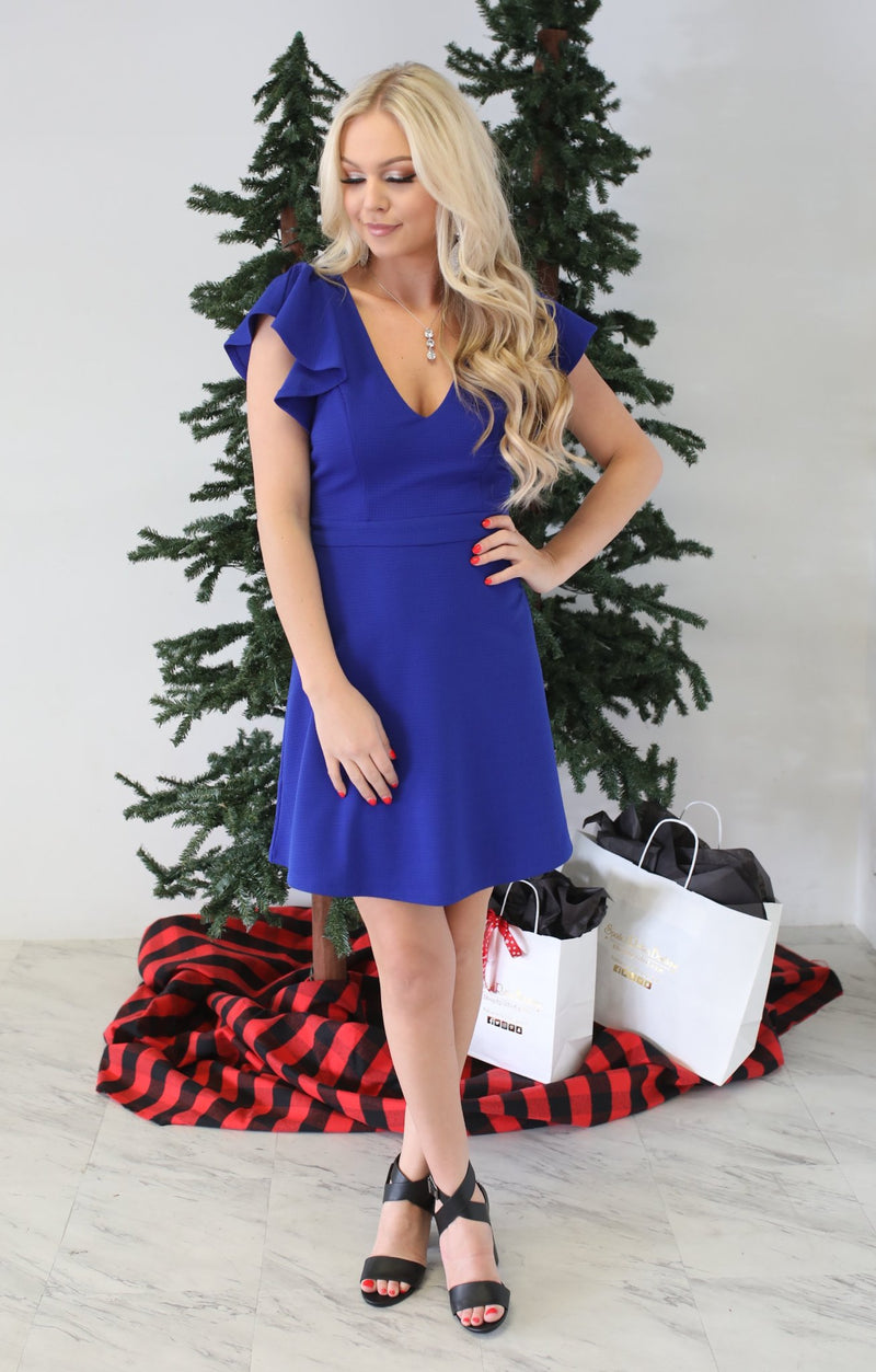 Fresh Love Dress: Royal - ShopSpoiled