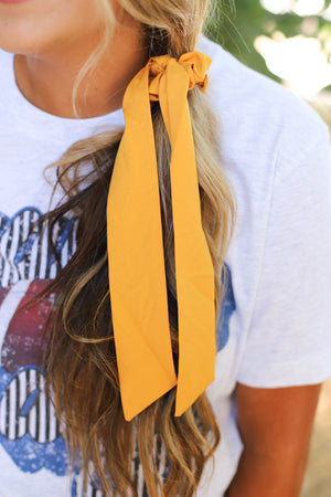 Solid Hair Scarf: Mustard - ShopSpoiled