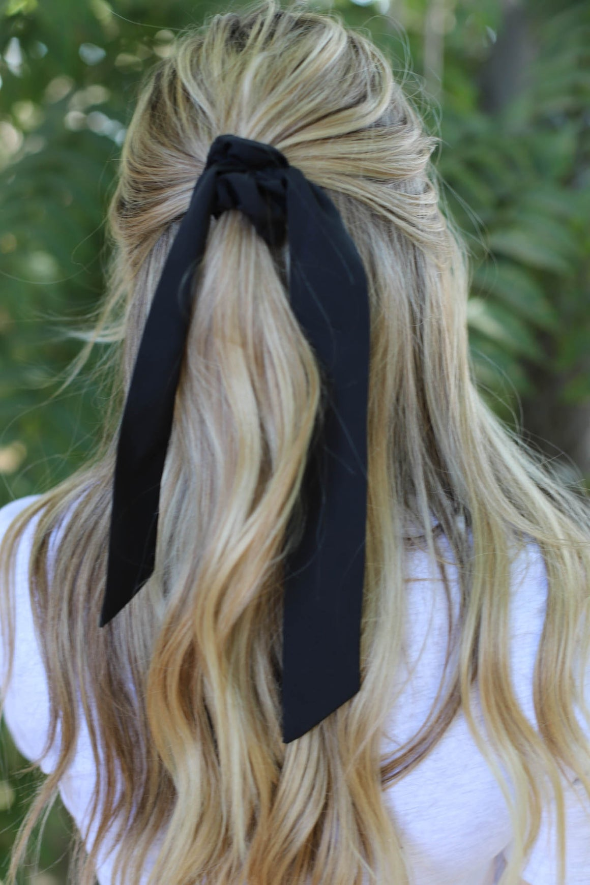 Solid Hair Scarf: Black - ShopSpoiled
