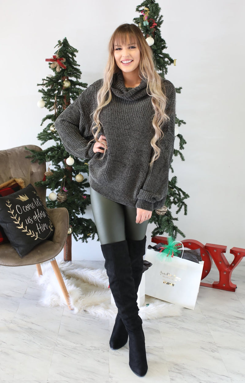 Hello Lovely Sweater: Olive - ShopSpoiled