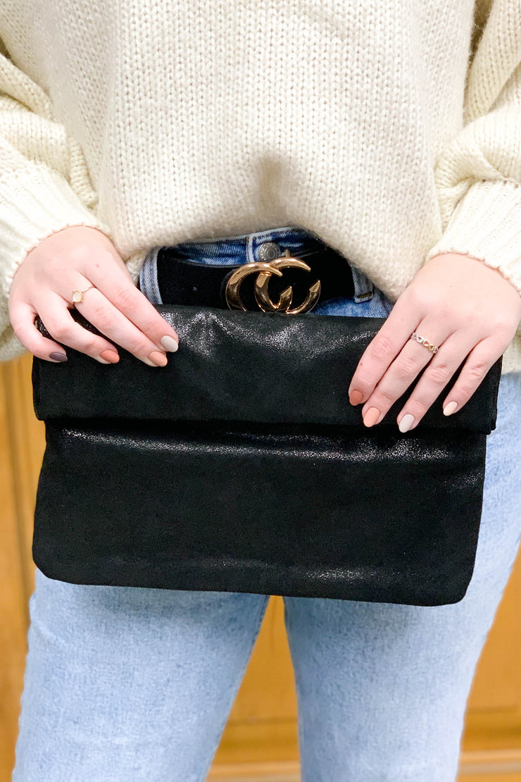 Easy To Adore Clutch: Black - ShopSpoiled