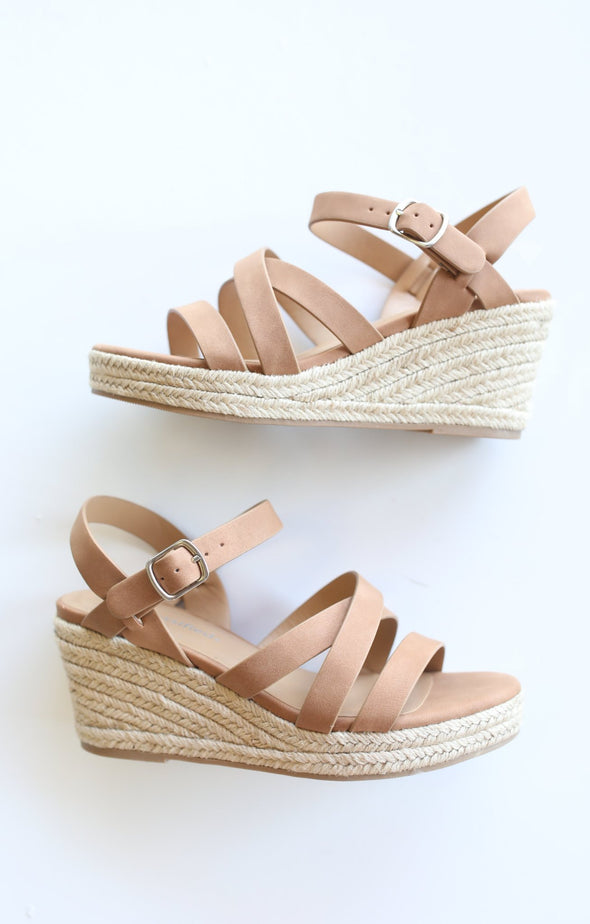 Jubilee Wedge: Tan - ShopSpoiled
