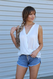 Gracie Top: White - ShopSpoiled