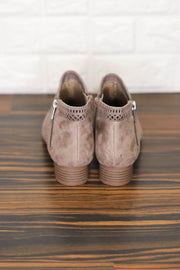 Busy Booties : Taupe Suede - ShopSpoiled