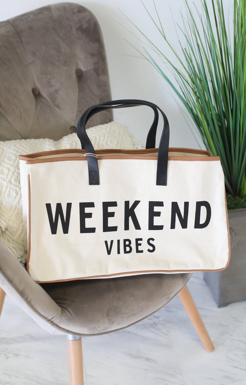 Canvas Tote: Weekend Vibes - ShopSpoiled