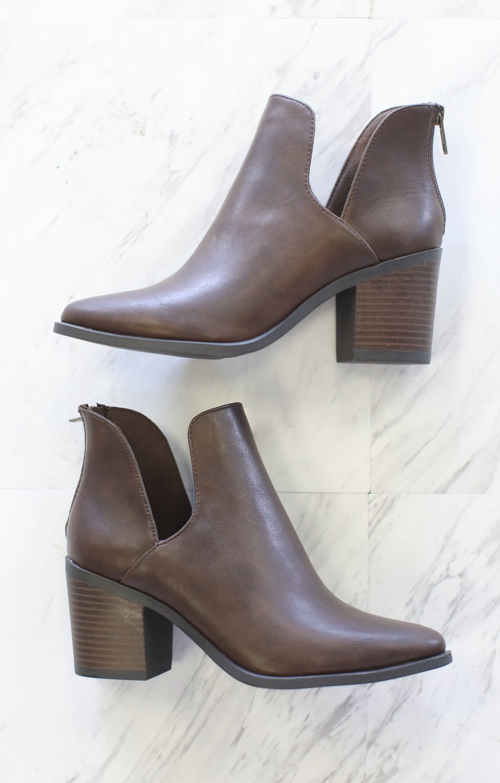Durable Bootie: Dark Brown - ShopSpoiled