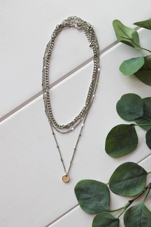 Glam Forever Necklace: Silver