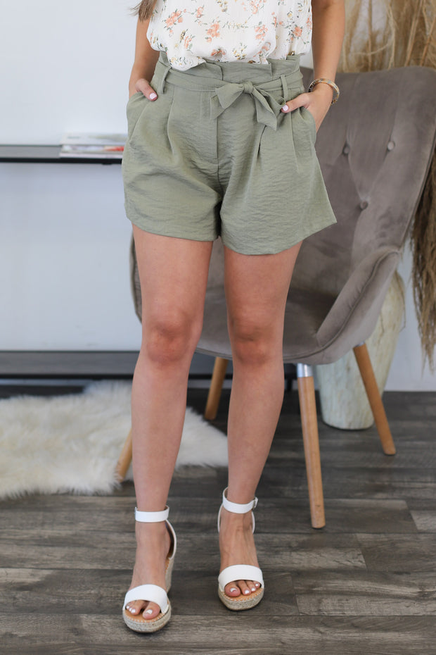 True Miracle Shorts: Olive - ShopSpoiled