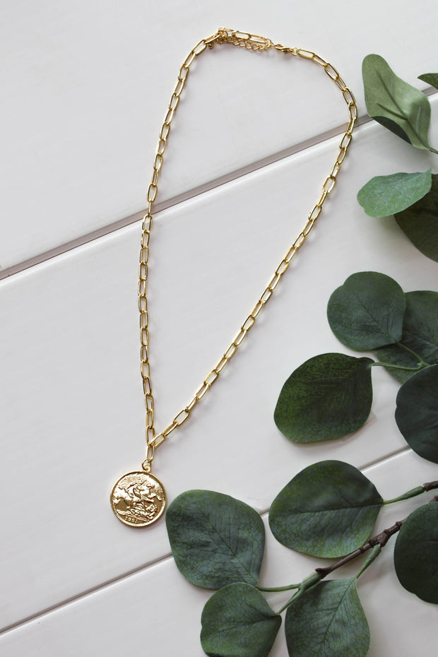 Royal Rank Necklace: Gold