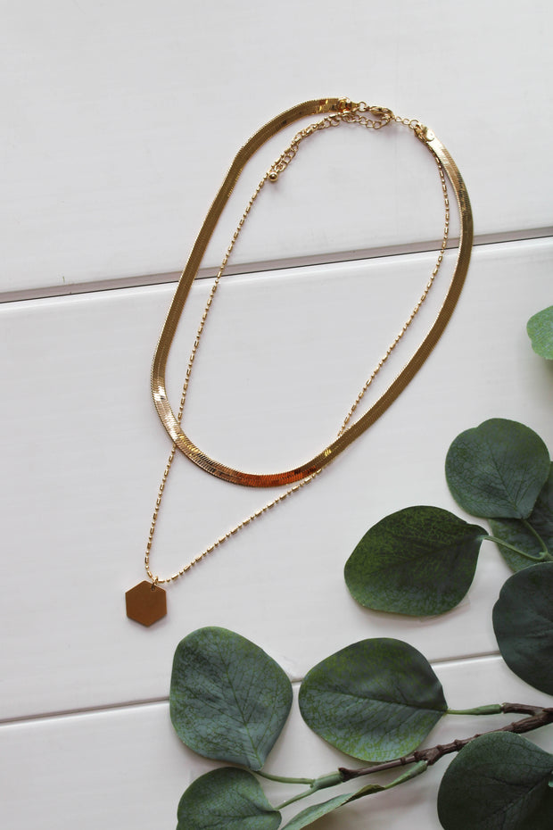 Up Your Game Necklace: Gold