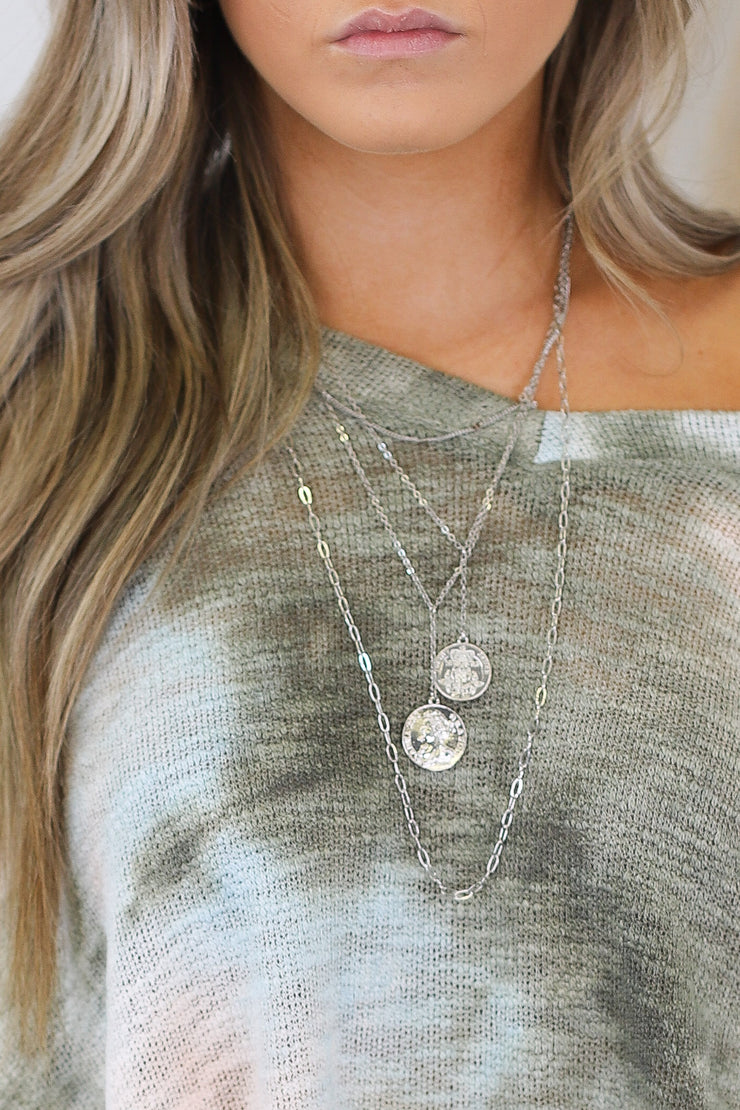Loved By You Necklace: Silver - ShopSpoiled