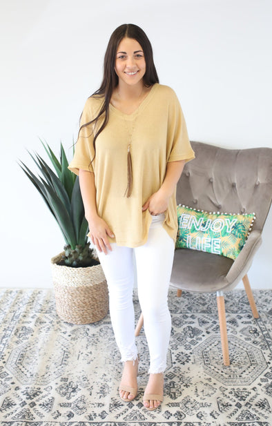 Call Me Comfy Xtra: Mustard - ShopSpoiled