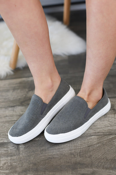 Coco Slip On Sneakers: grey - ShopSpoiled