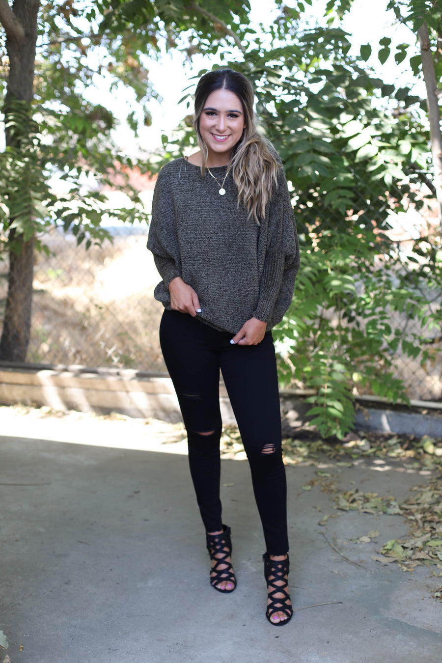 The Bombshell Sweater: Olive - ShopSpoiled