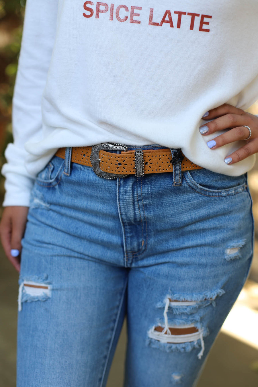 Lazer Laso Belt: Camel - ShopSpoiled