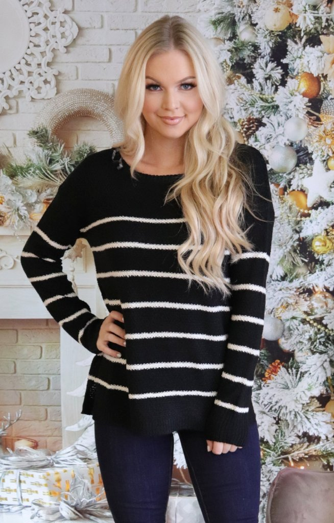 Deanna Sweater: Black - ShopSpoiled