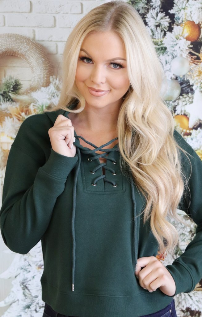 Kaitlynn Top: Green - ShopSpoiled