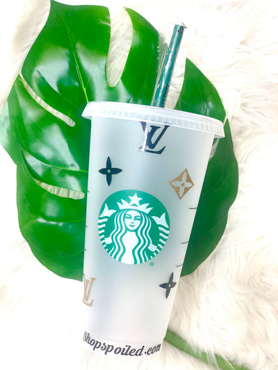 Starbucks Cup Gold & Black LV - ShopSpoiled