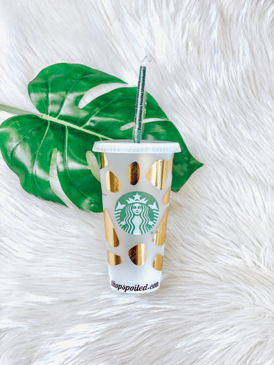 Starbucks Cups- Gold - ShopSpoiled
