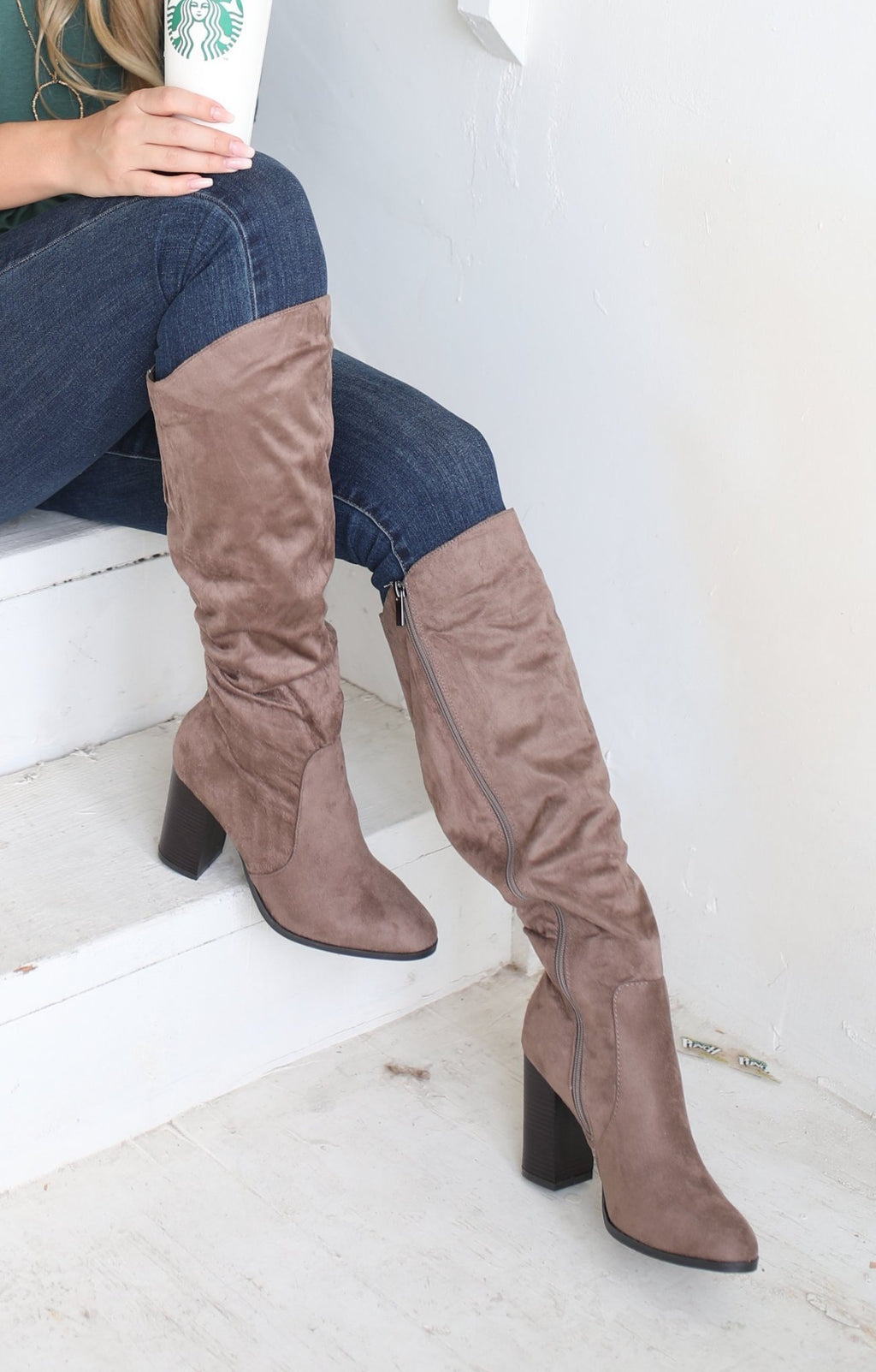 Upside Boot: Taupe - ShopSpoiled