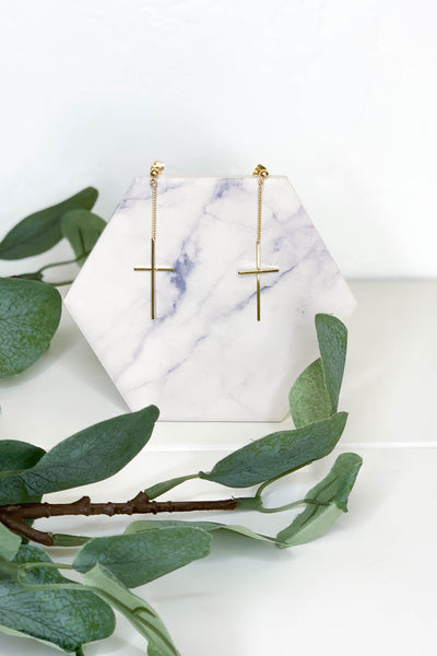 Keeping Hope Cross Earrings - ShopSpoiled