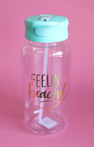 Feelin Beachy Water Bottle - ShopSpoiled