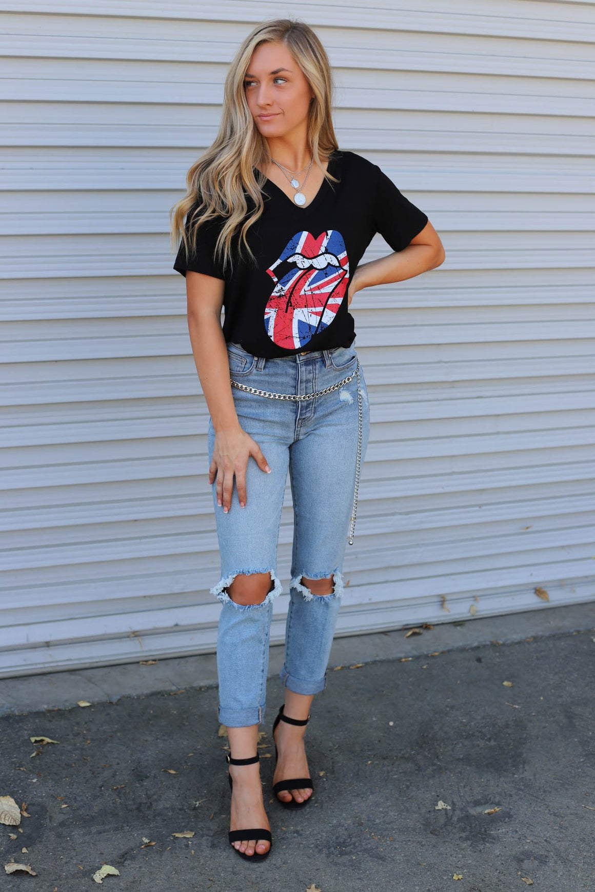 Union Jack Graphic Top - ShopSpoiled