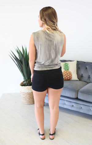 Let's Day Trip Tank: Grey - ShopSpoiled