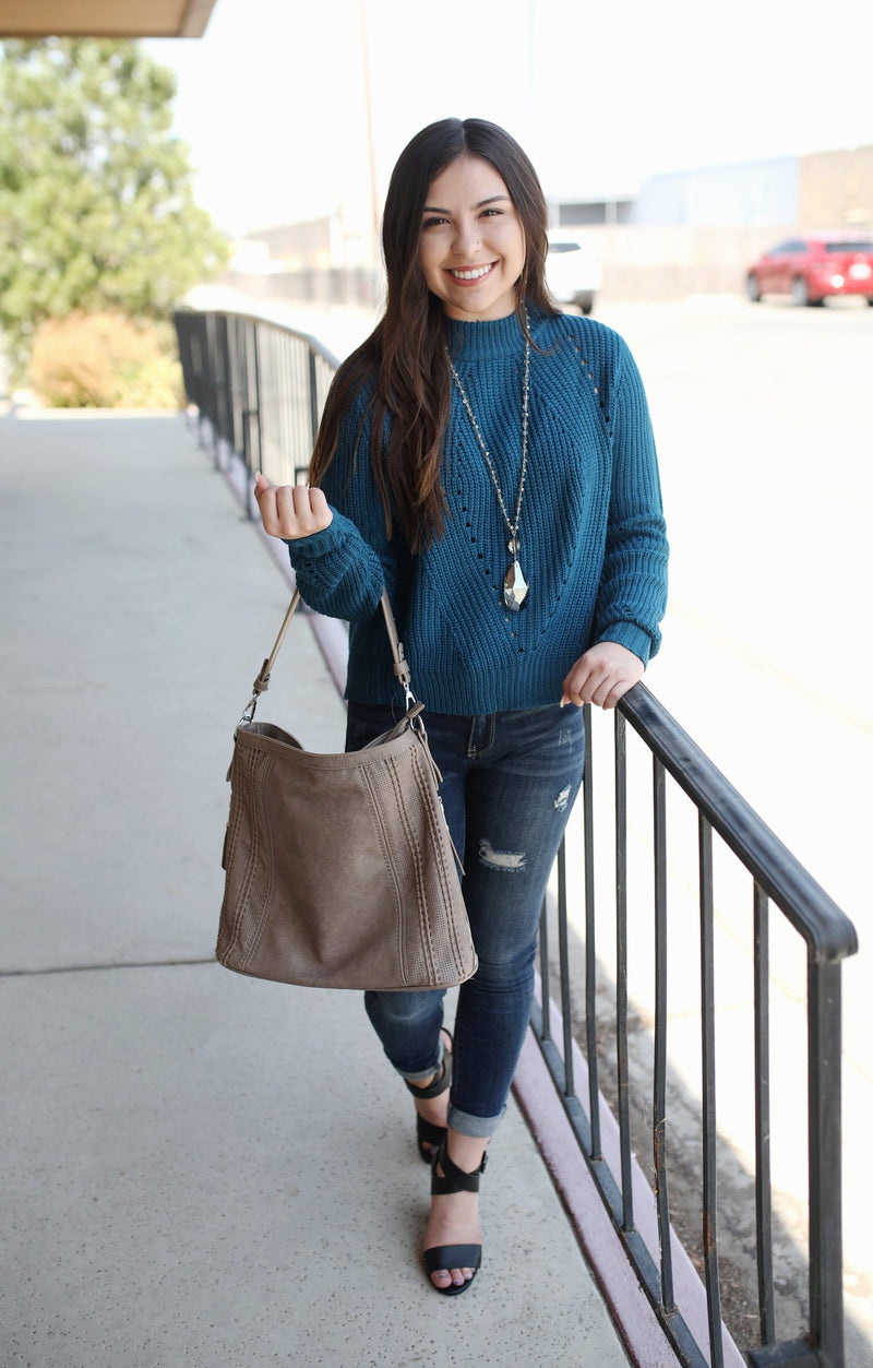 Cool Breeze Sweater: Blue - ShopSpoiled