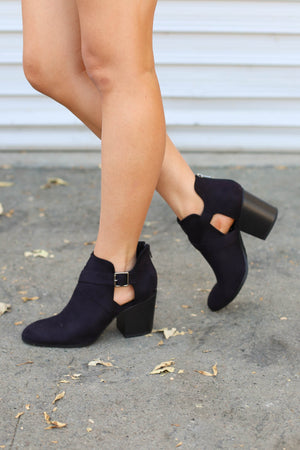 Part Ways Bootie: Black - ShopSpoiled