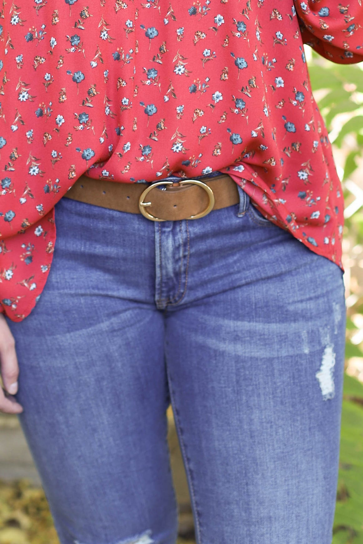 Balli Suede Belt: Tan - ShopSpoiled