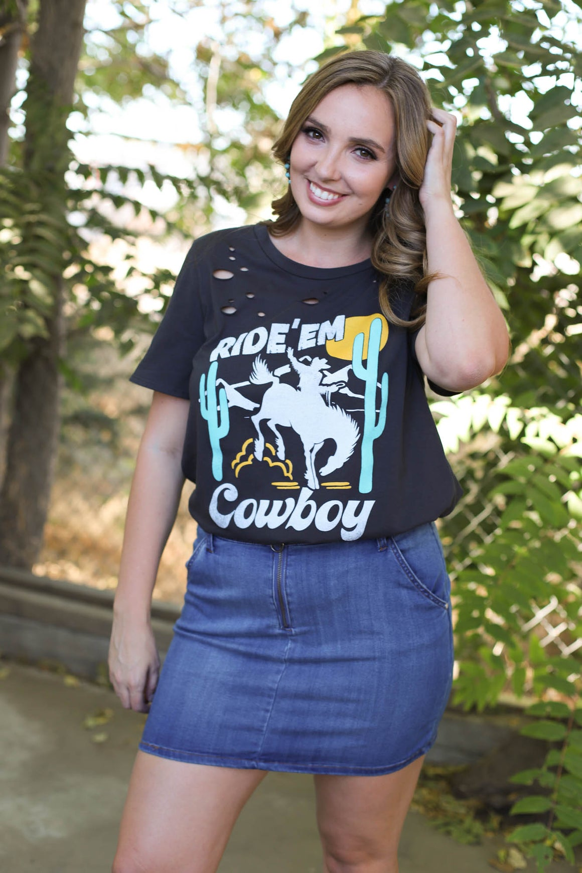 Ride'em Cowboy Graphic Top - ShopSpoiled