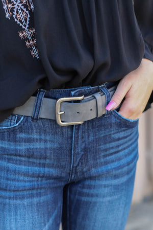 Charlie Belt: Grey - ShopSpoiled