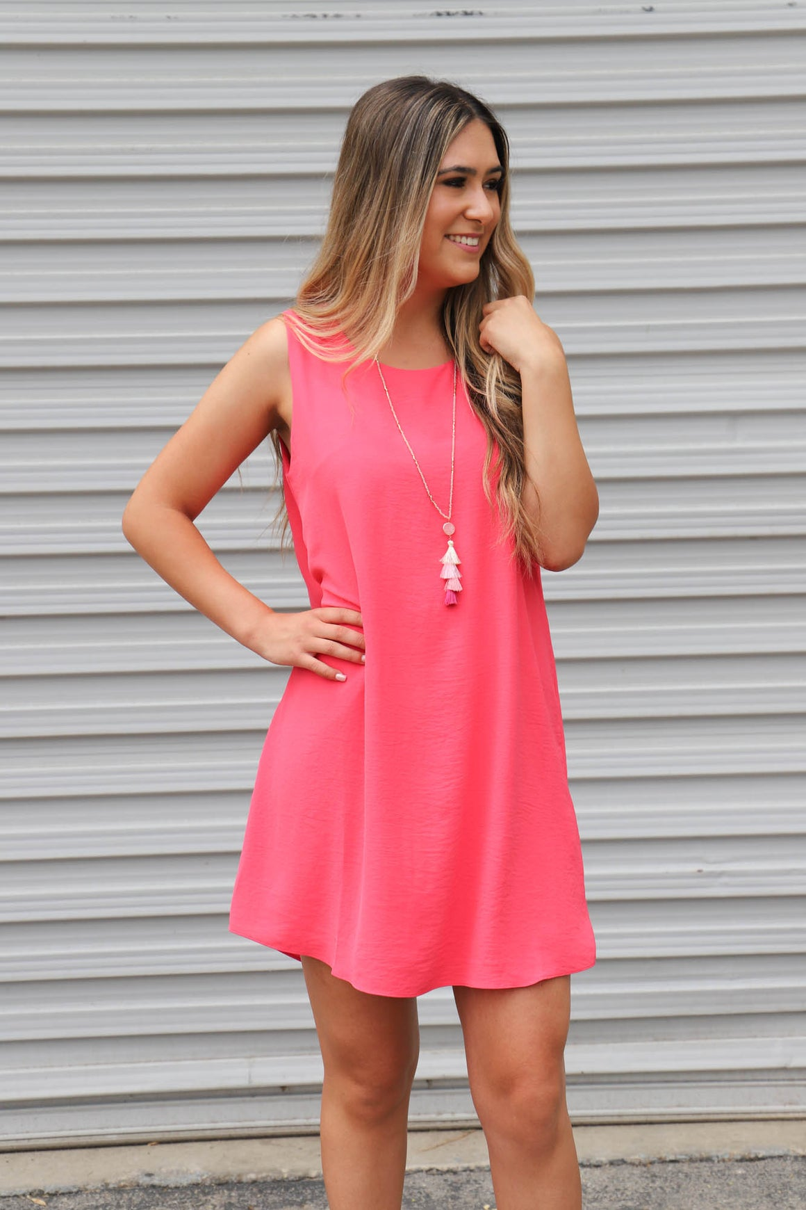 All You Need Dress: Watermelon - ShopSpoiled