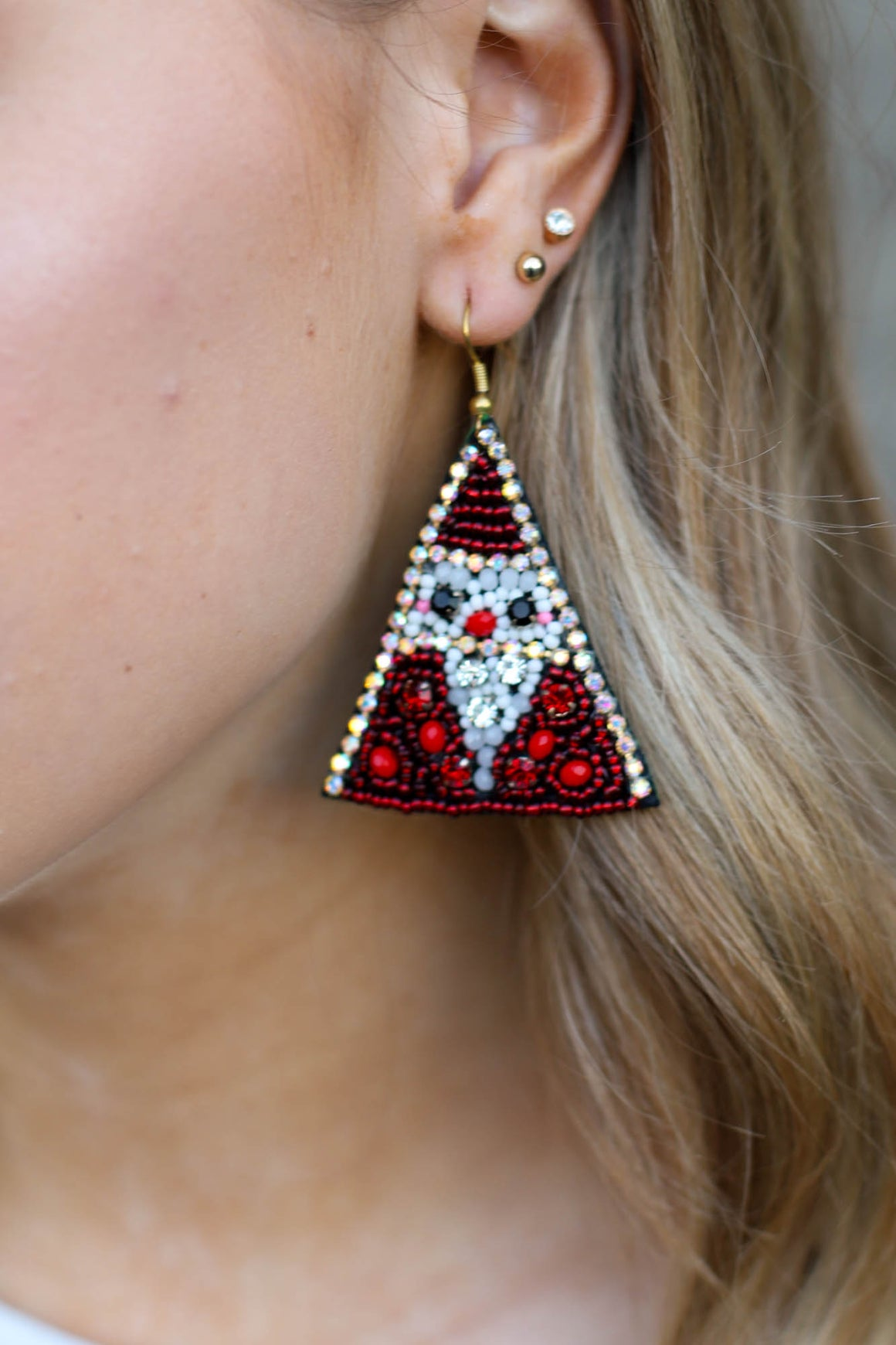 Santa Bling Earrings - ShopSpoiled