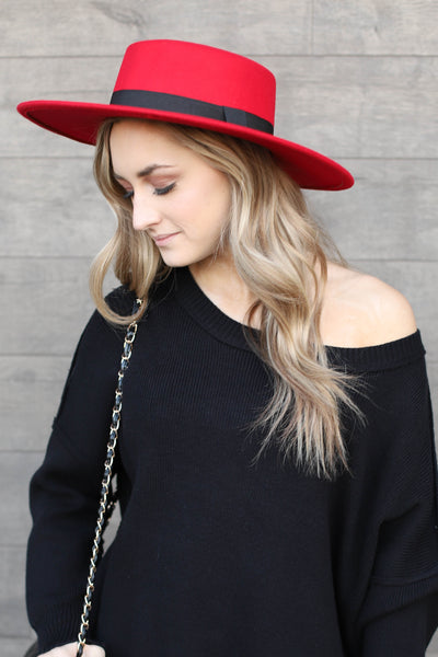 Rancherio Hat: Red - ShopSpoiled