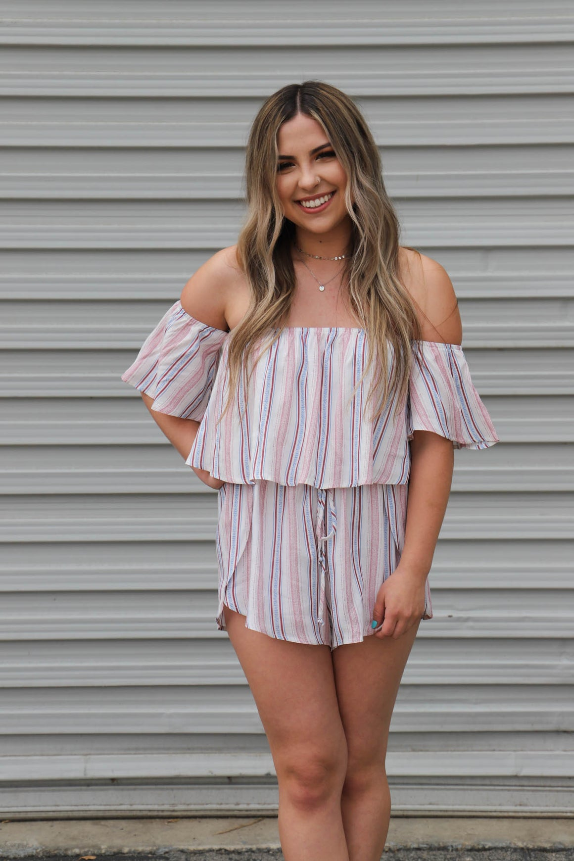 You Make It Easy Romper: Blush - ShopSpoiled