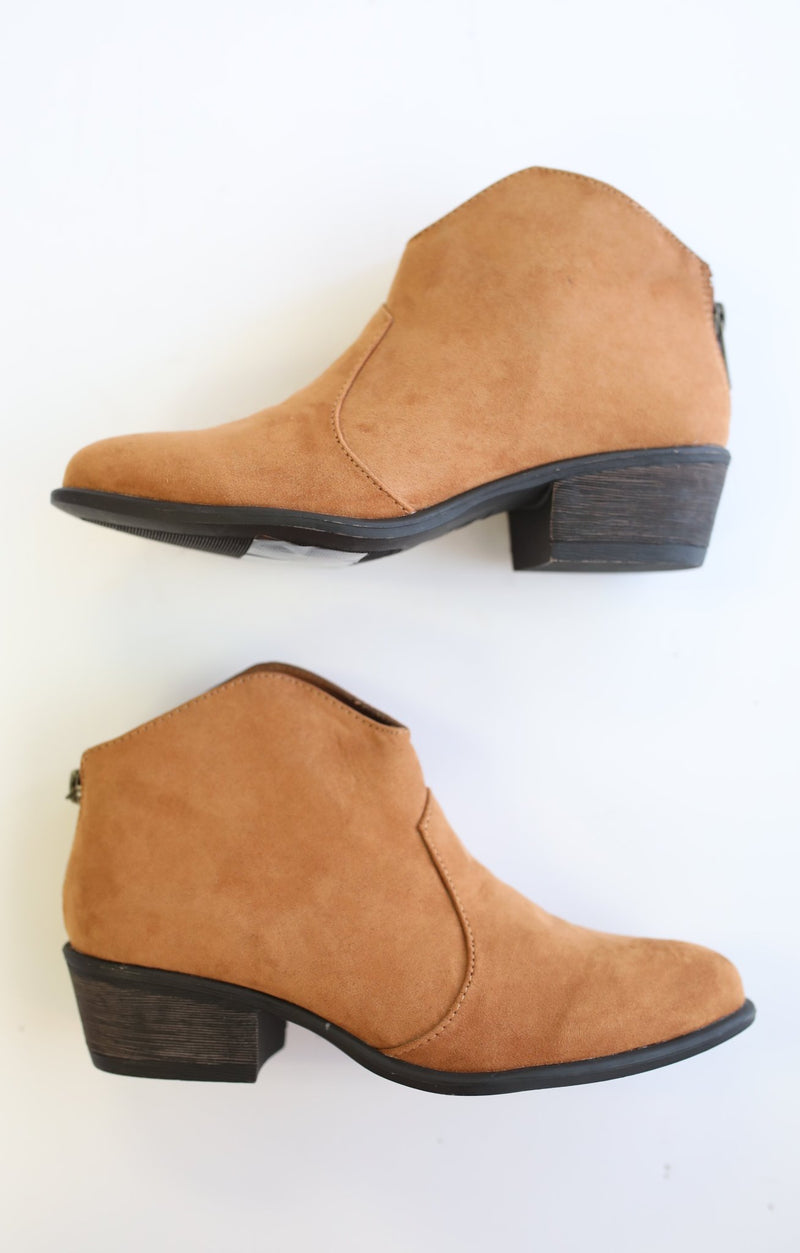 Sadie Bootie: Tan - ShopSpoiled