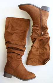 Olympia Boot: Tan - ShopSpoiled
