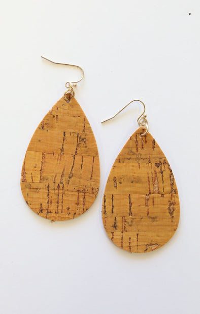 Cork Earrings - ShopSpoiled